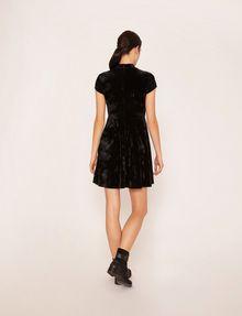 ARMANI EXCHANGE VELVET WAVE MOTIF MOCKNECK FIT-AND-FLARE Midi dress [*** pickupInStoreShipping_info ***] e