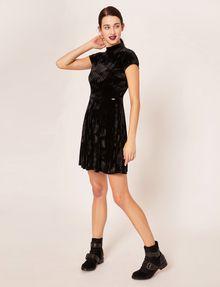 ARMANI EXCHANGE VELVET WAVE MOTIF MOCKNECK FIT-AND-FLARE Midi dress [*** pickupInStoreShipping_info ***] f