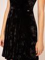 ARMANI EXCHANGE VELVET WAVE MOTIF MOCKNECK FIT-AND-FLARE Midi dress [*** pickupInStoreShipping_info ***] b