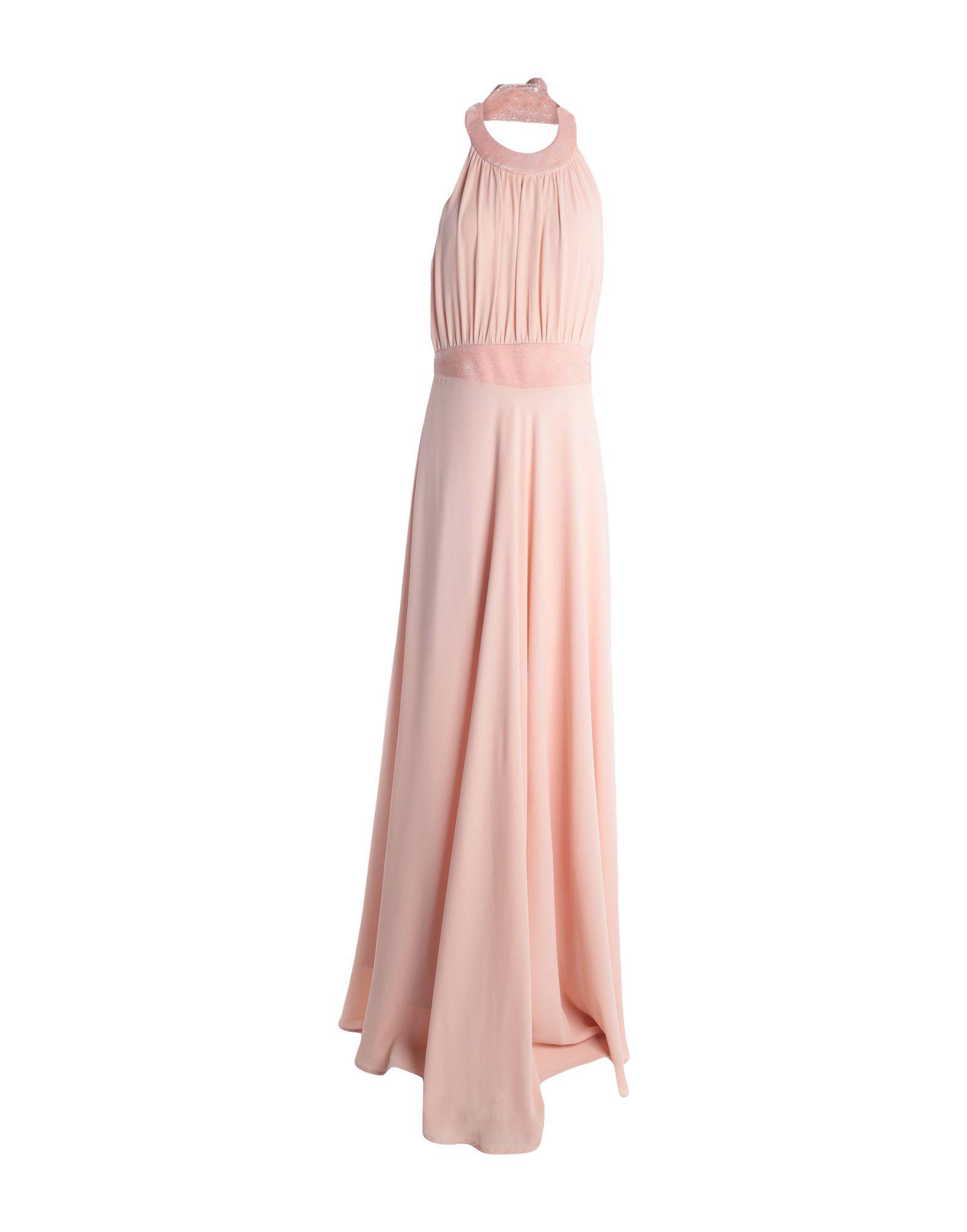 《送料無料》TUWE ITALIA レディース ロングワンピース&ドレス ピンク 42 ポリエステル 100%
