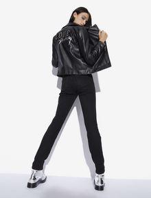 ARMANI EXCHANGE RHINESTONE LOVE SATURDAY FAUX-LEATHER MOTO Blouson Jacket [*** pickupInStoreShipping_info ***] a