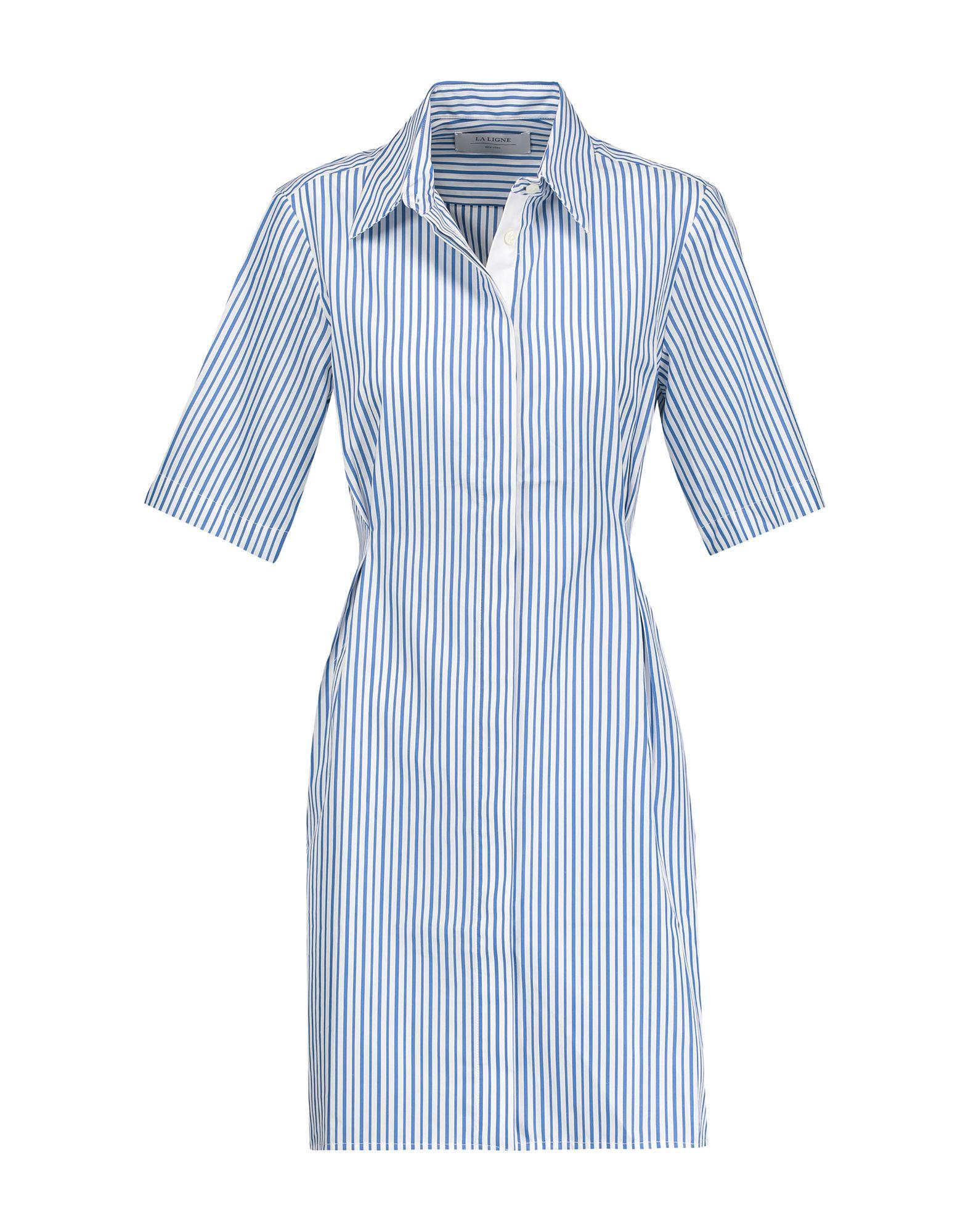 LA LIGNE Короткое платье платье рубашка fox yulia sway платье рубашка fox