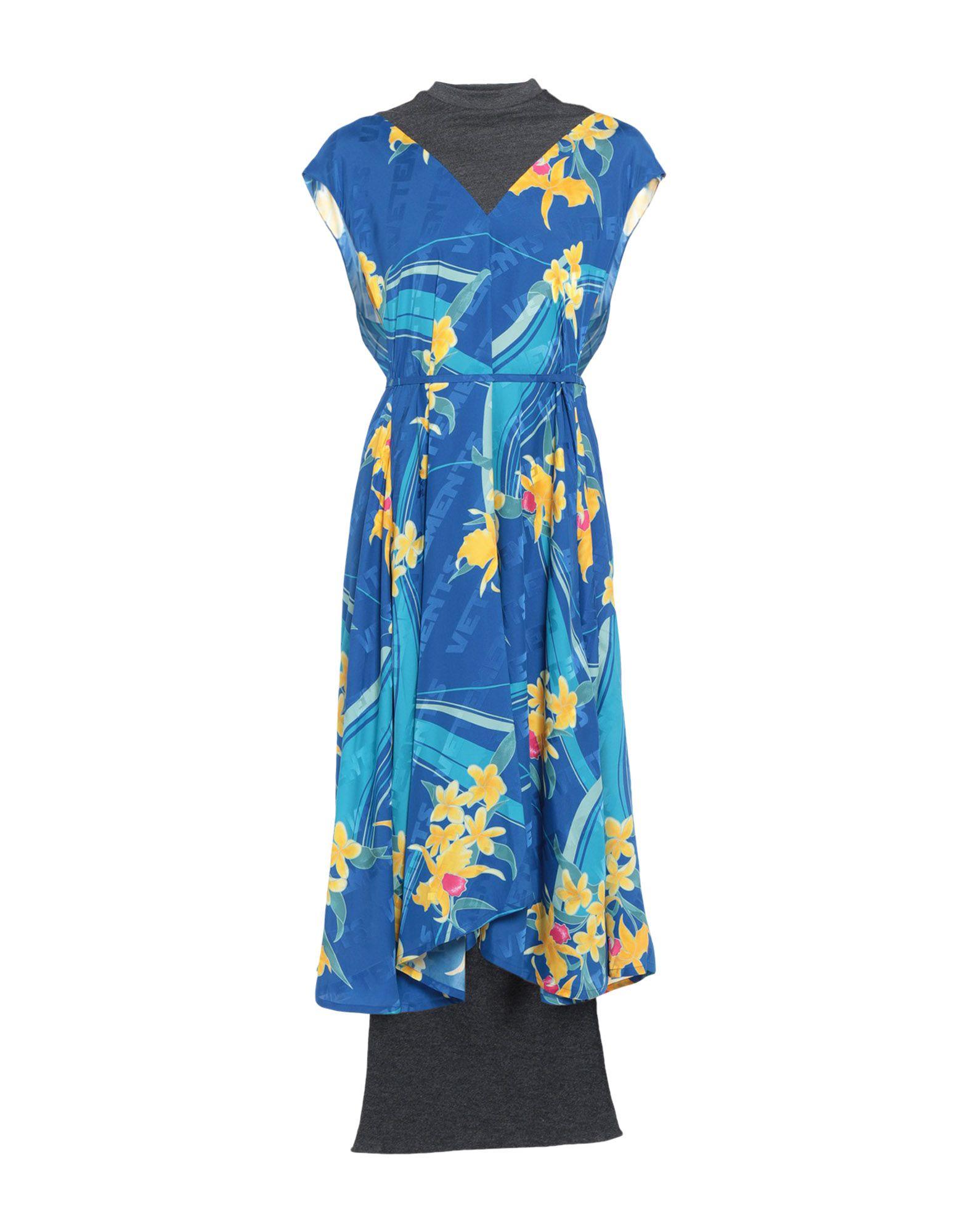 VETEMENTS Длинное платье vetements ремень