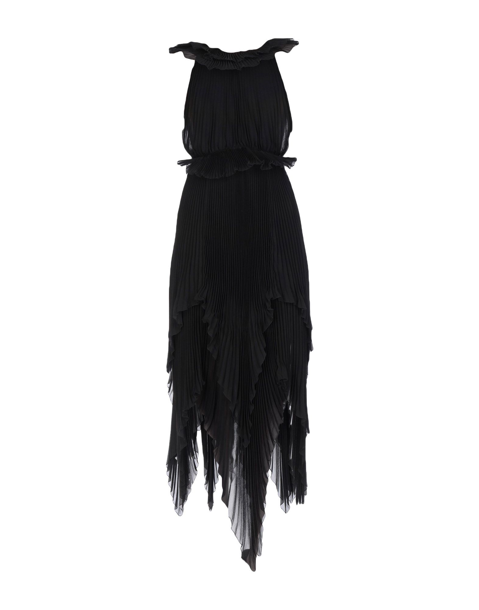 《送料無料》GIVENCHY レディース 7分丈ワンピース・ドレス ブラック 38 シルク 100%
