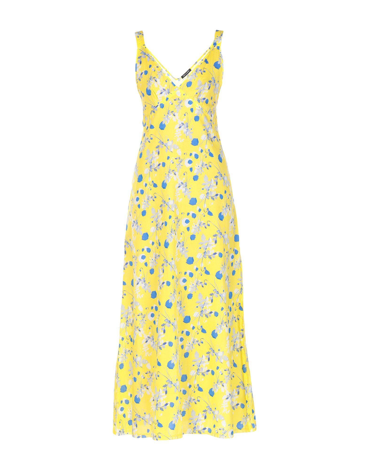 R13 Damen Langes Kleid Farbe Gelb Größe 3