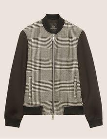 ARMANI EXCHANGE HOUNDSTOOTH PRINT BOMBER JACKET Jacket Man r