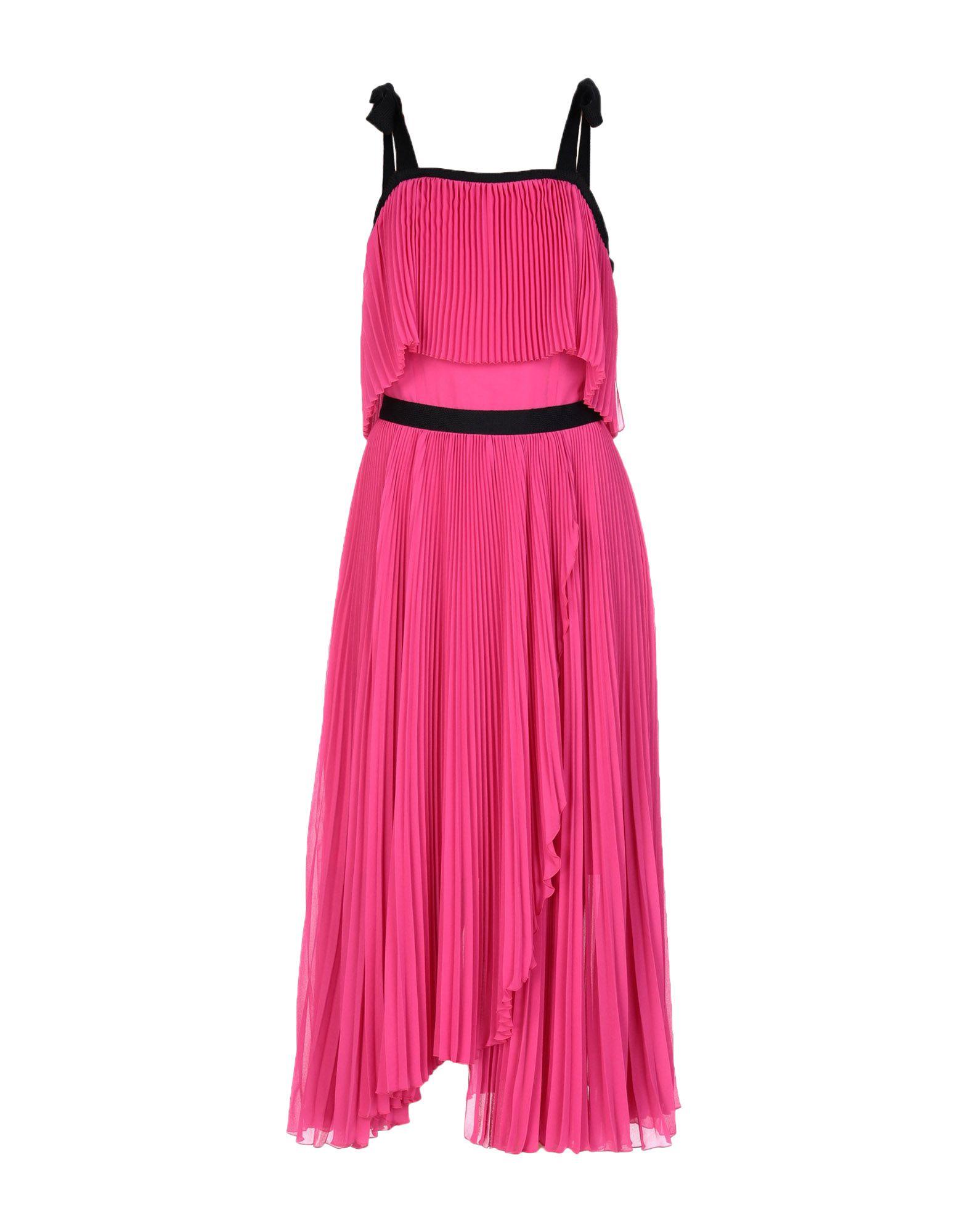 《送料無料》PHILOSOPHY di LORENZO SERAFINI レディース 7分丈ワンピース・ドレス フューシャ 40 ポリエステル 100%