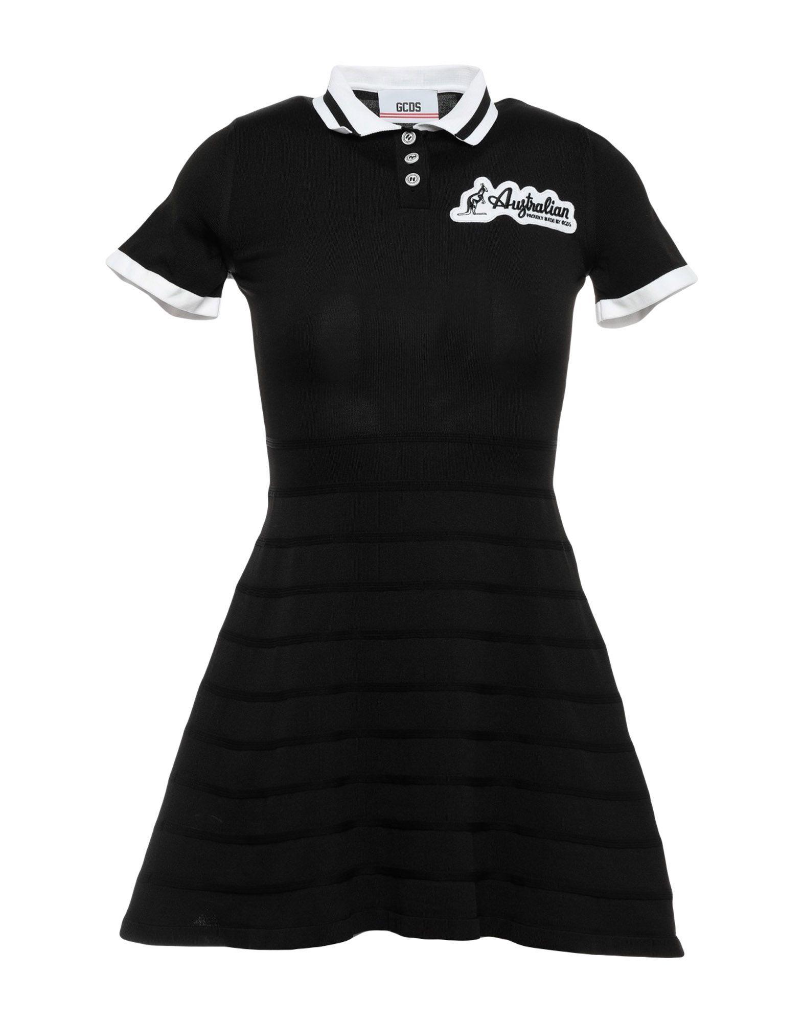 GCDS Damen Kurzes Kleid Farbe Schwarz Größe 4