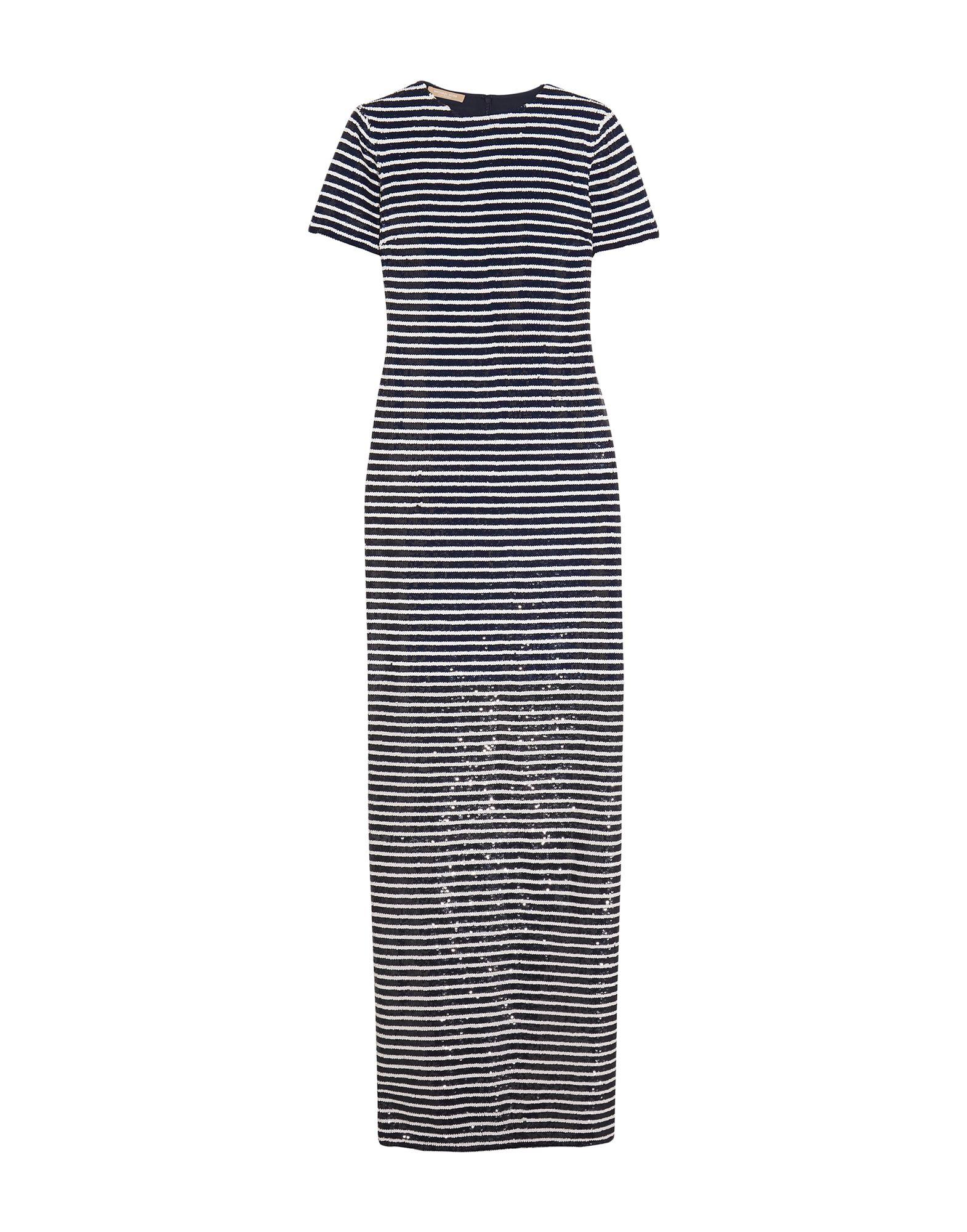 《送料無料》MICHAEL KORS COLLECTION レディース ロングワンピース&ドレス ダークブルー 2 シルク 100%