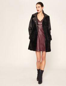 ARMANI EXCHANGE FAUX-LEATHER RUFFLED SHEATH DRESS Mini dress [*** pickupInStoreShipping_info ***] d