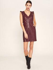 ARMANI EXCHANGE FAUX-LEATHER RUFFLED SHEATH DRESS Mini dress [*** pickupInStoreShipping_info ***] f