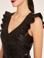 ARMANI EXCHANGE FAUX-LEATHER RUFFLED SHEATH DRESS Mini Dress Woman b