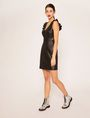 ARMANI EXCHANGE FAUX-LEATHER RUFFLED SHEATH DRESS Mini Dress Woman d
