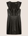 ARMANI EXCHANGE FAUX-LEATHER RUFFLED SHEATH DRESS Mini Dress Woman r
