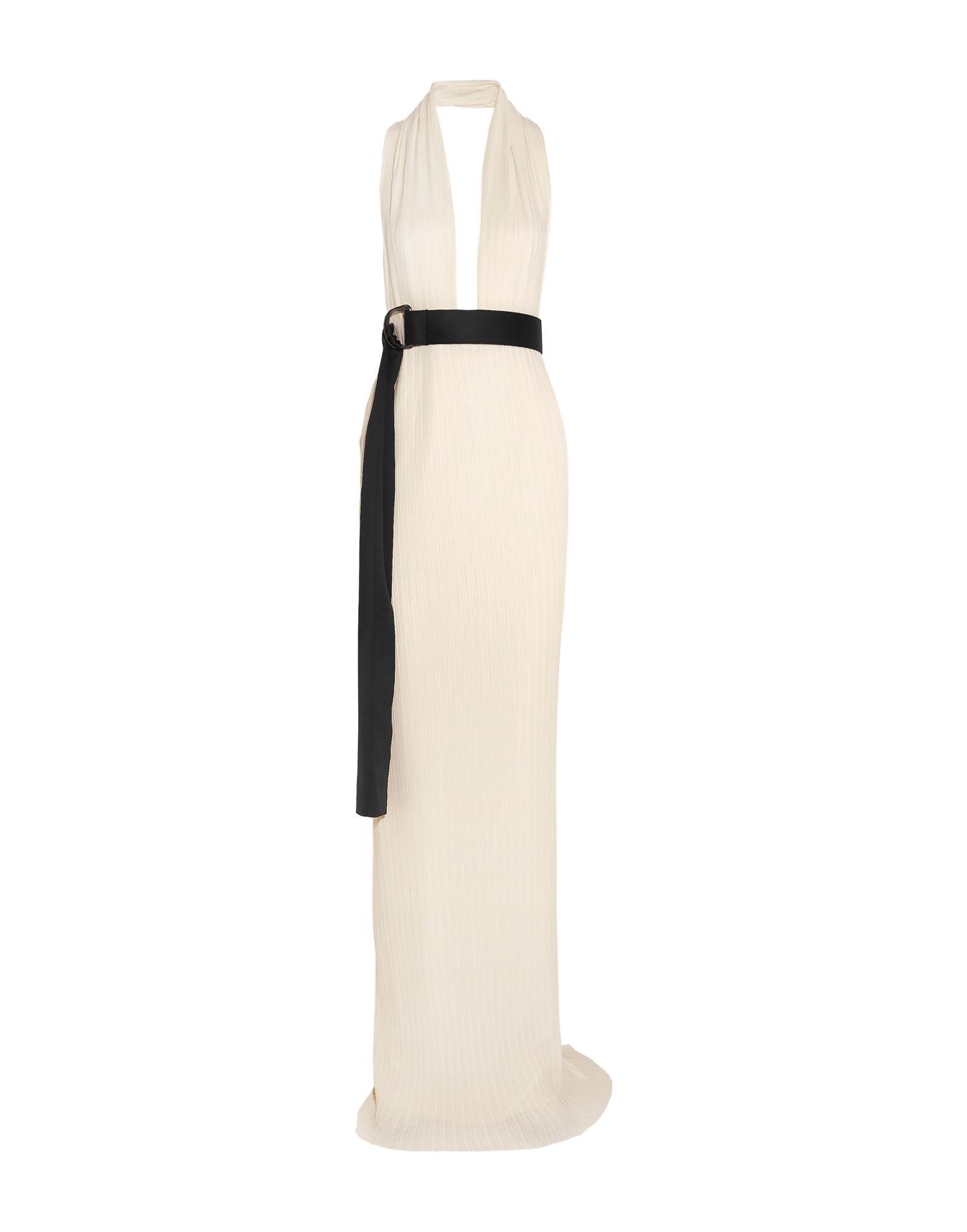 《送料無料》SOLACE LONDON レディース ロングワンピース&ドレス アイボリー 14 ポリエステル