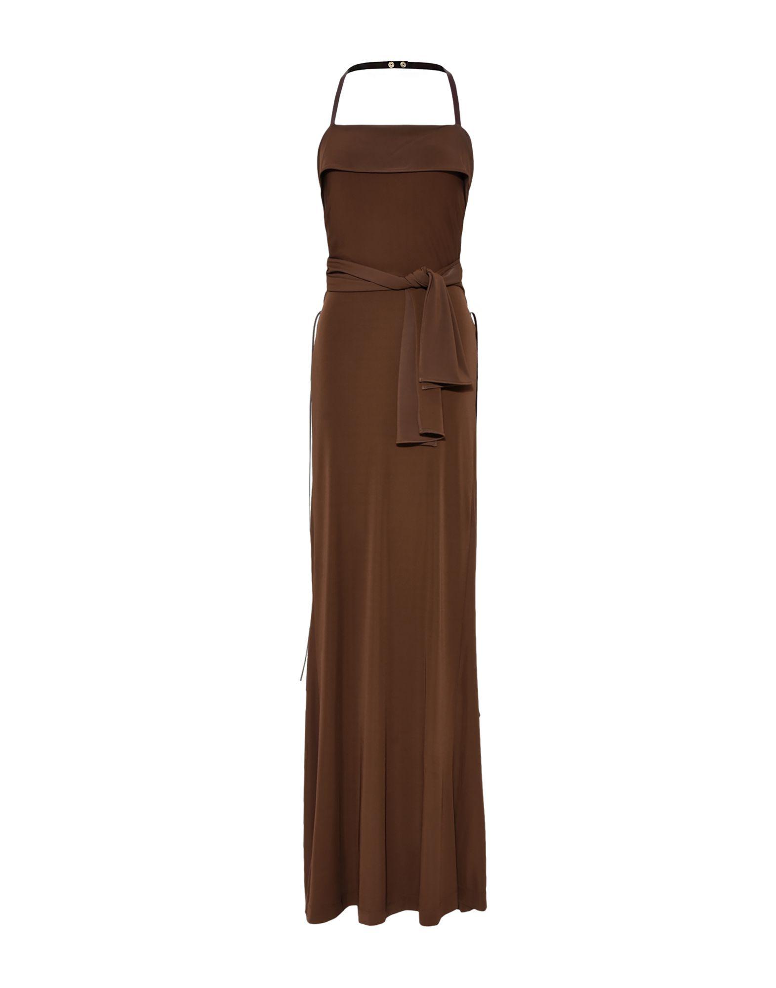 《セール開催中》ALBERTA FERRETTI レディース ロングワンピース&ドレス ダークブラウン 42 レーヨン 95% / 指定外繊維 5%