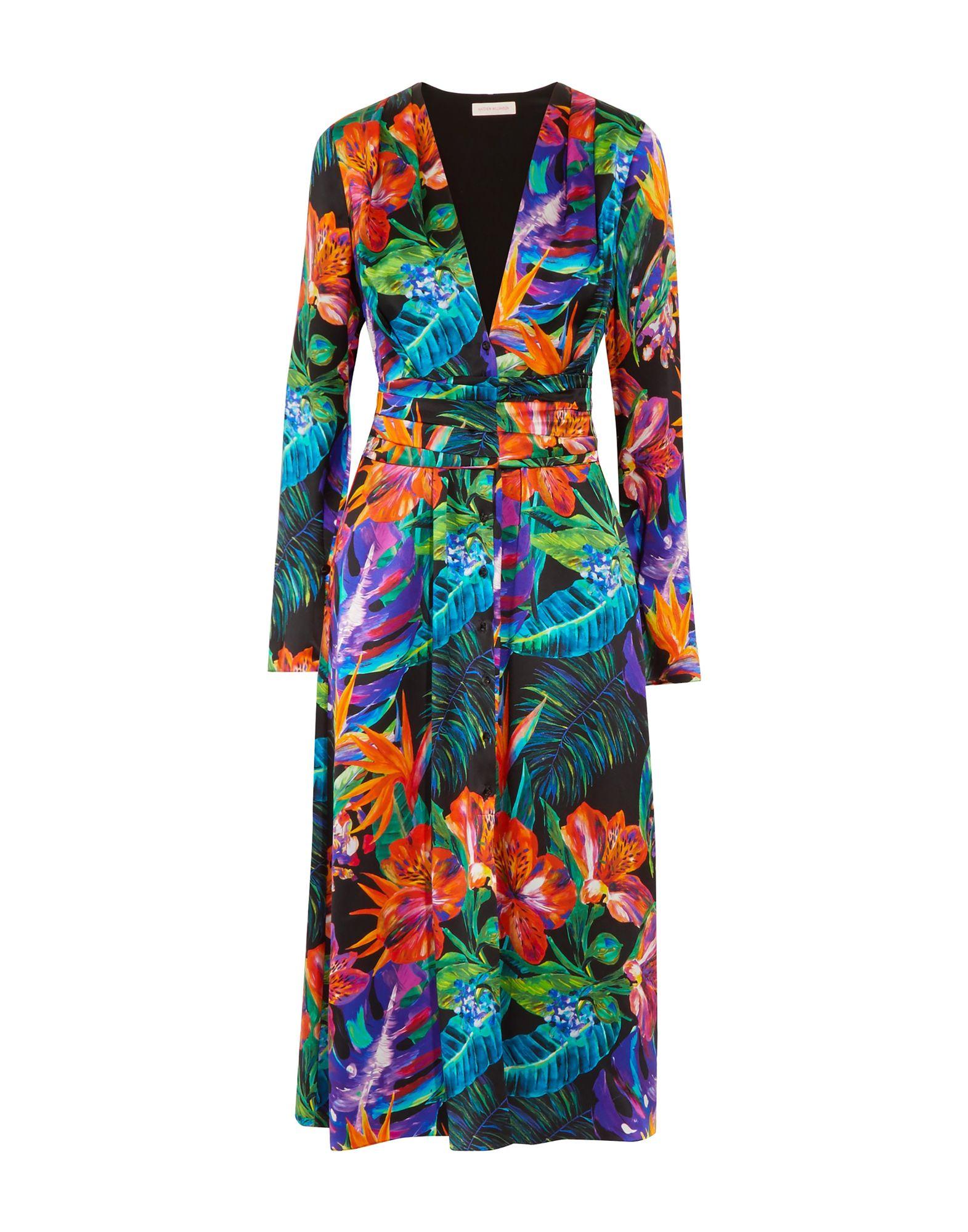 MATTHEW WILLIAMSON Платье длиной 3/4 длинное платье с принтом matthew williamson длинное платье с принтом