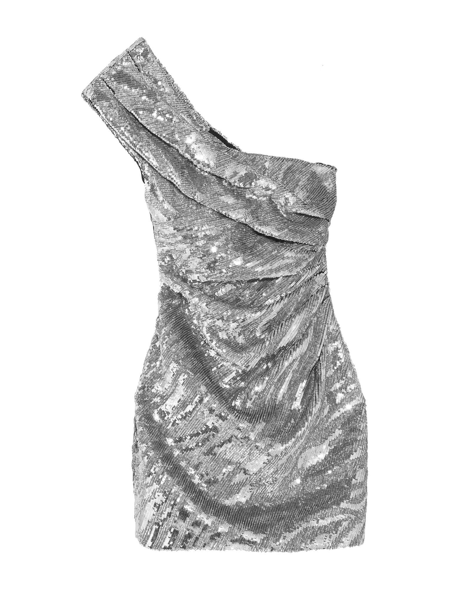 《送料無料》SAINT LAURENT レディース ミニワンピース&ドレス シルバー 40 ウール 100%