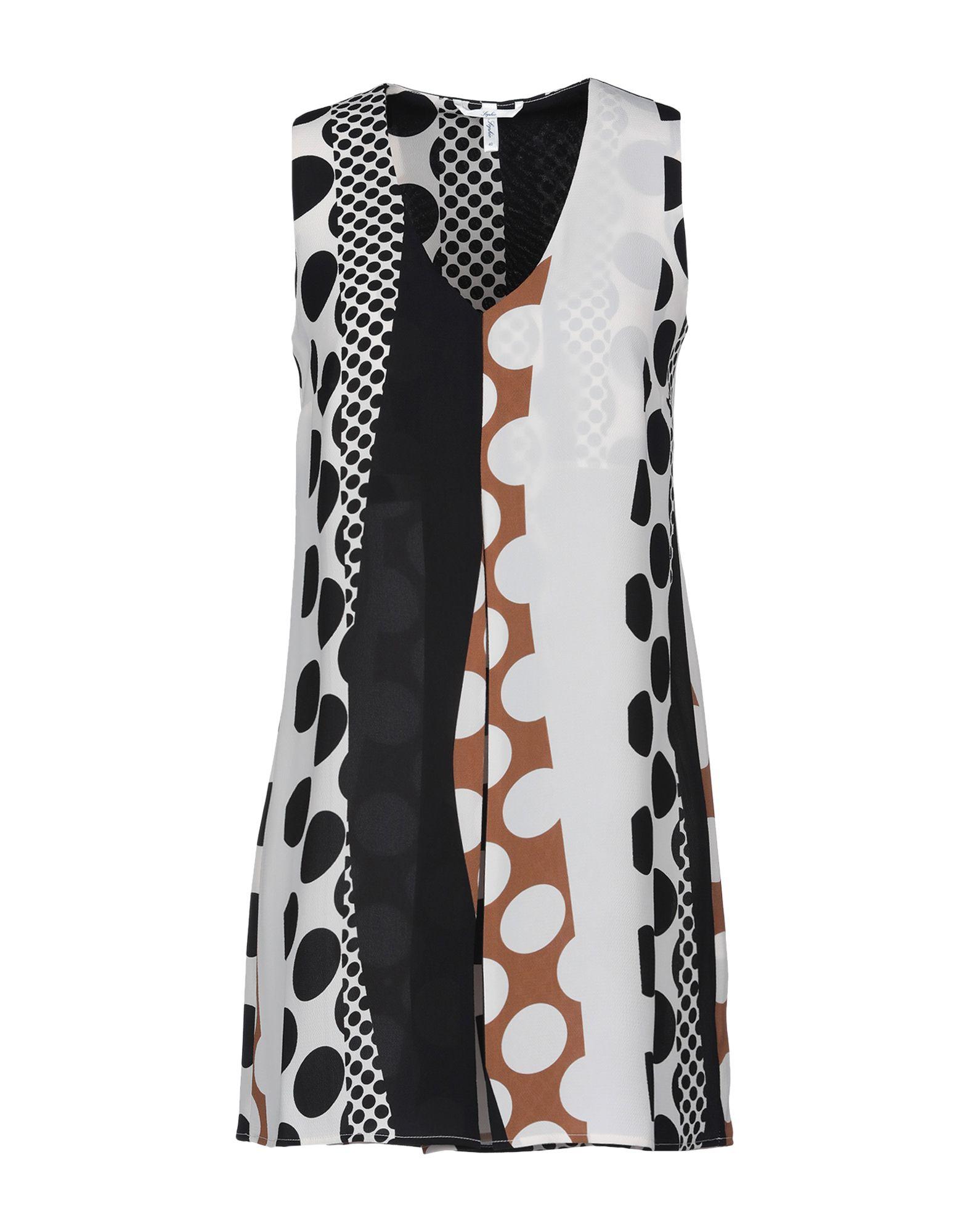 SOPHIE Короткое платье летом 2015 новый суд европы печати тонкая талия ретро платье без рукавов жилет юбка в конце детей