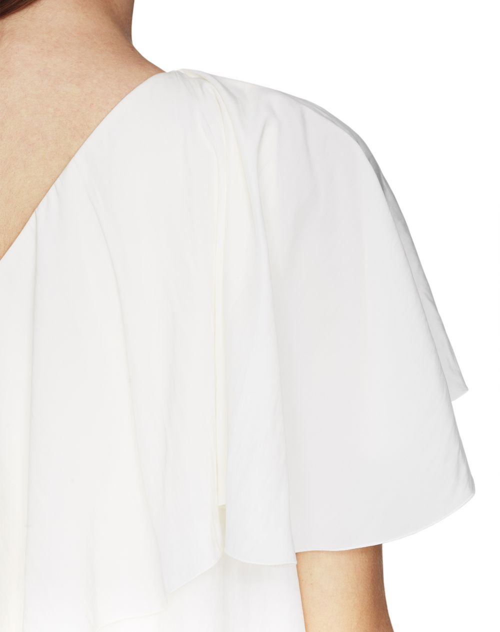 IVORY ASYMMETRICAL DRESS - Lanvin