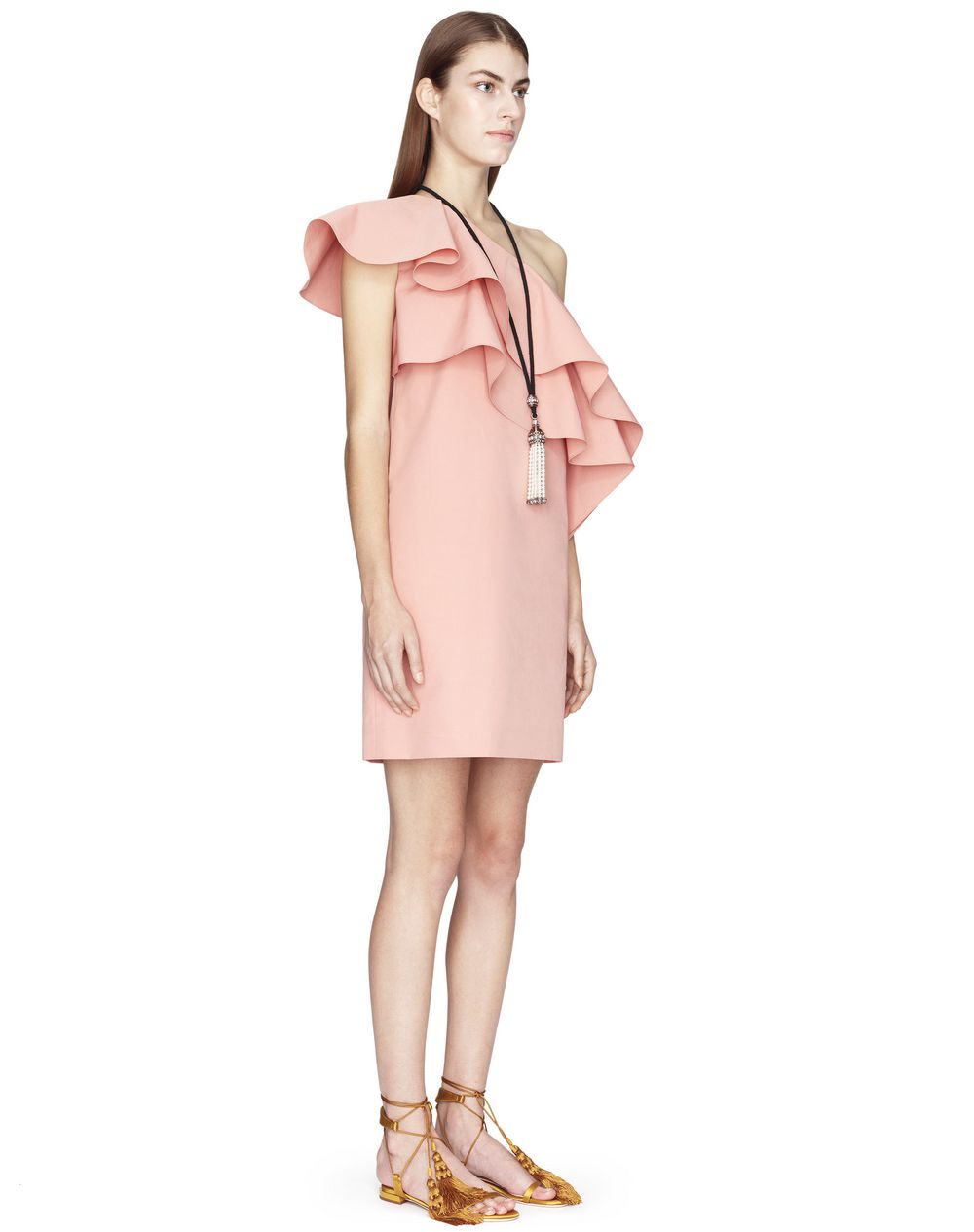 BLUSH ASYMMETRICAL DRESS  - Lanvin