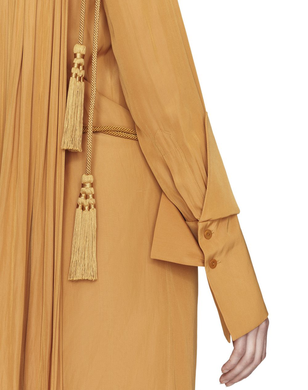 MID-LENGTH GOLD SATIN DRESS   - Lanvin