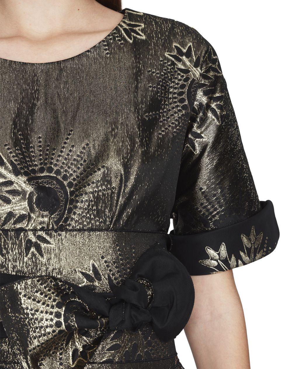 SHORT LAMÉ MOTIF DRESS - Lanvin