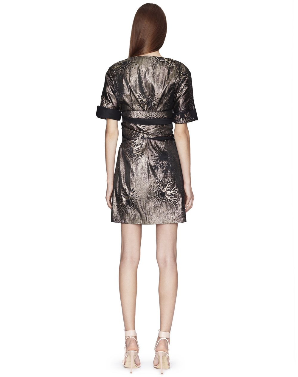SHORT LAMÉ MOTIF DRESS - Lanvin