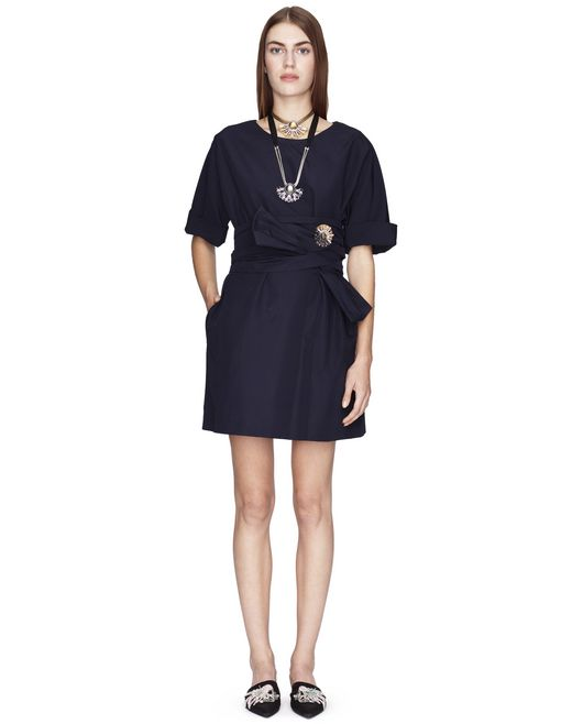 SHORT NAVY BLUE DRESS  - Lanvin