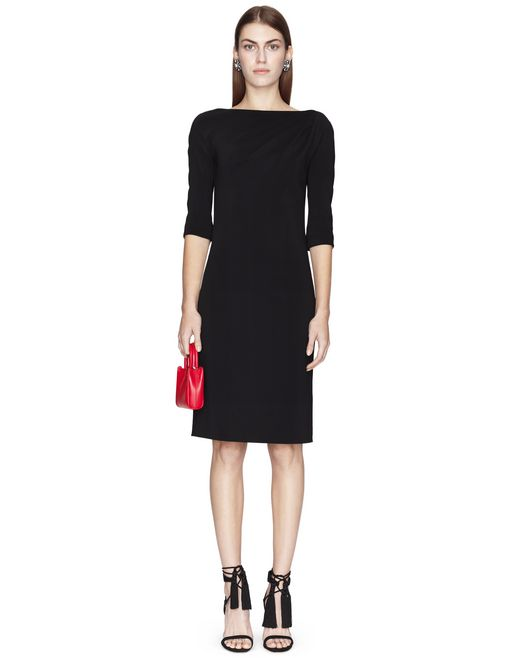 MID-LENGTH BLACK DRESS - Lanvin