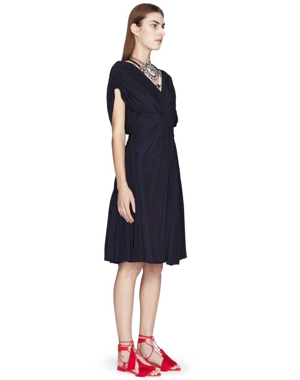 MIDNIGHT BLUE DRAPED DRESS - Lanvin