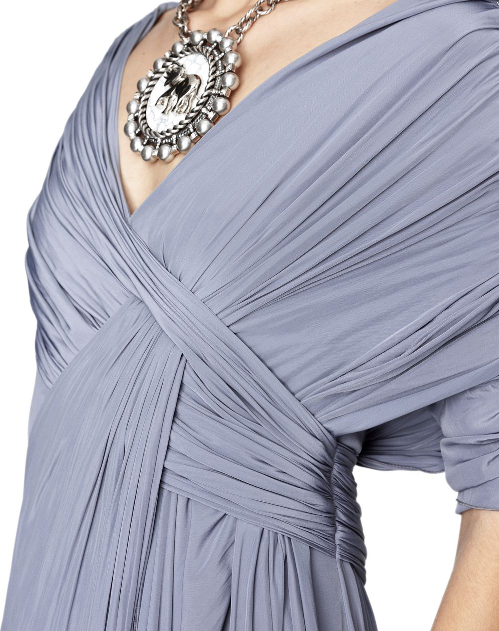 LONG SILK DRAPED DRESS - Lanvin