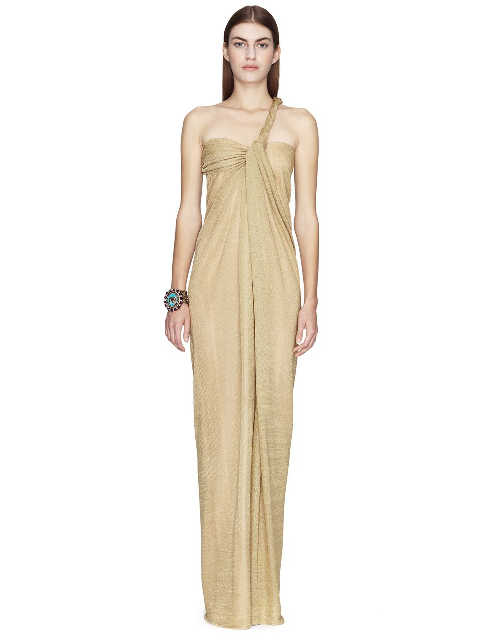 LONG ASYMMETRICAL LUREX DRESS  - Lanvin