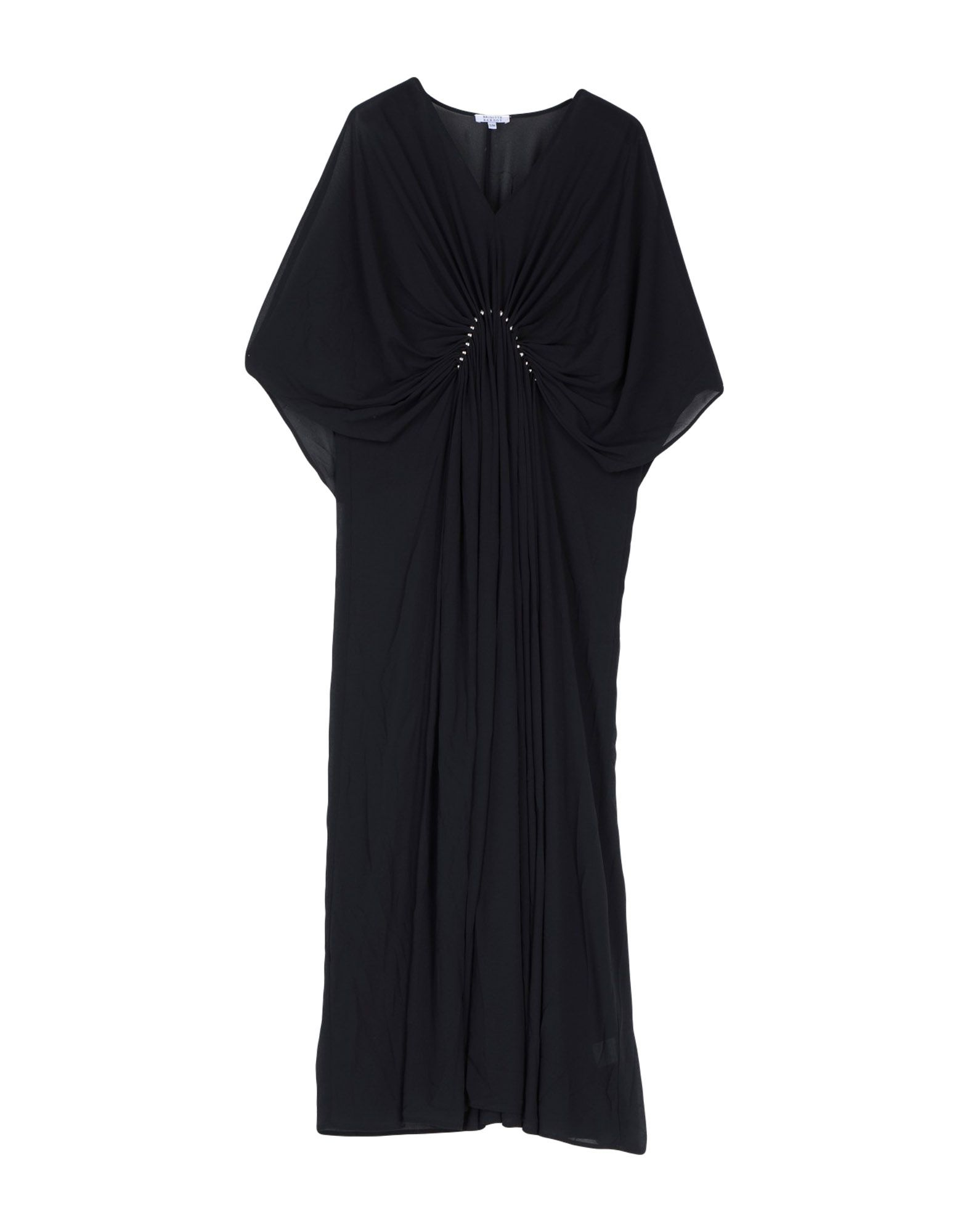BRIGITTE BARDOT Длинное платье v notch faux feather detail bardot top