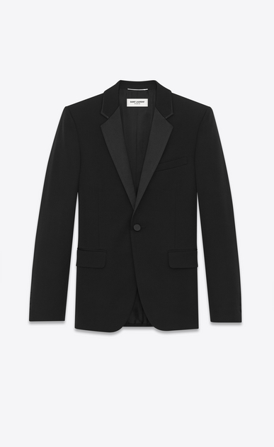 Tuxedo jacket in grain de poudre saint laurent