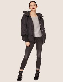 ARMANI EXCHANGE CROPPED HOODED PUFFER JACKET PUFFER JACKET Woman d