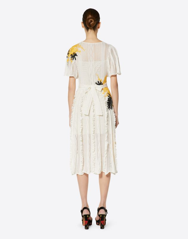 Embroidered Mimosa Cotton Blend Dress