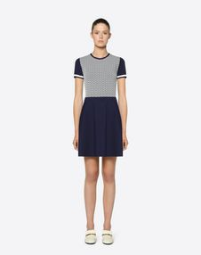 Valentino Optical Stretch Viscose Dress