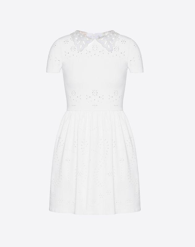 Embroidered Sangallo Stretch Viscose Dress