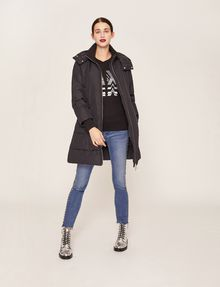ARMANI EXCHANGE BELTED HOODED PUFFER COAT PUFFER JACKET [*** pickupInStoreShipping_info ***] d