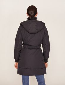 ARMANI EXCHANGE BELTED HOODED PUFFER COAT PUFFER JACKET [*** pickupInStoreShipping_info ***] e
