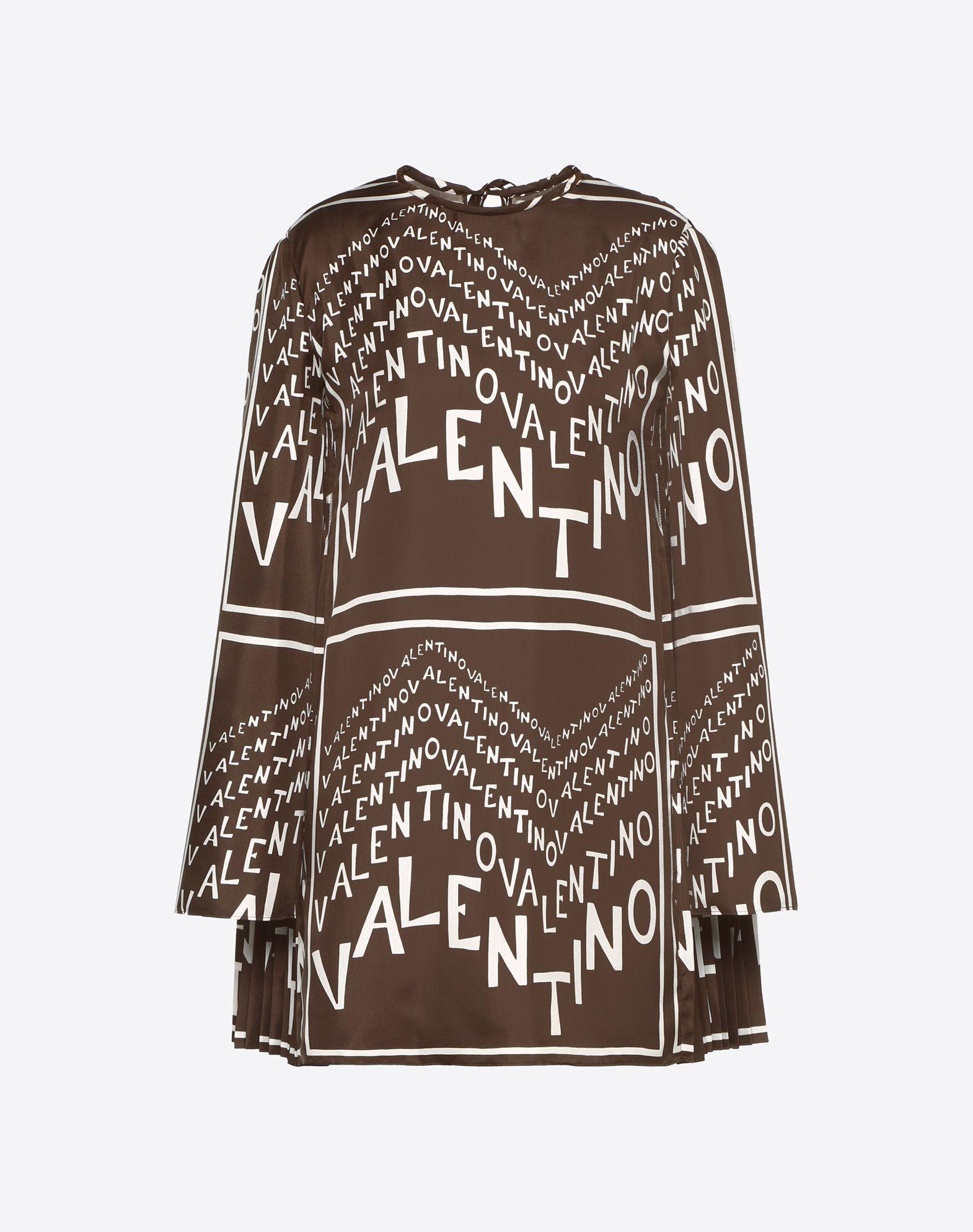 Valentino Chevron Twill Dress