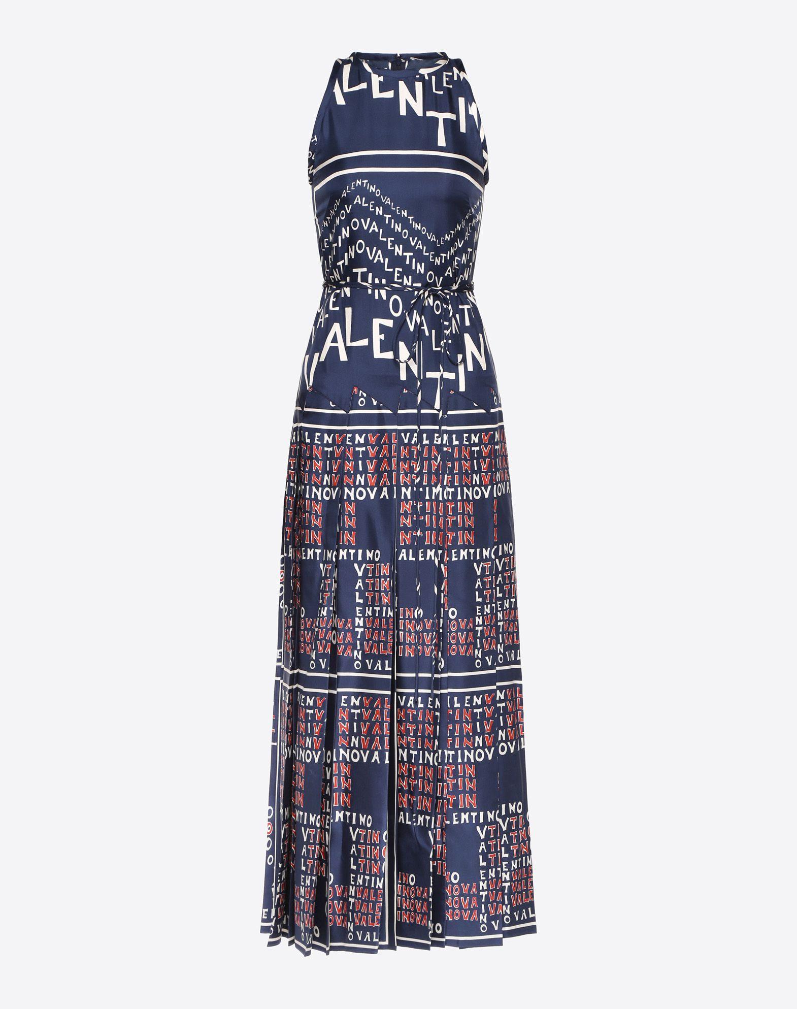 Valentino Chevron and Valentino Puzzle Twill Dress