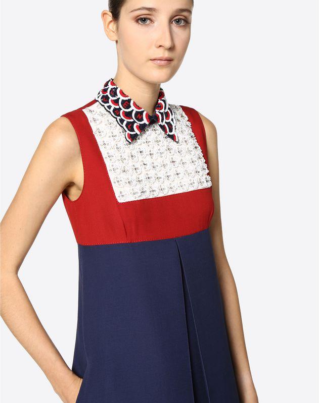 刺绣 Couture 绉绸连衣裙