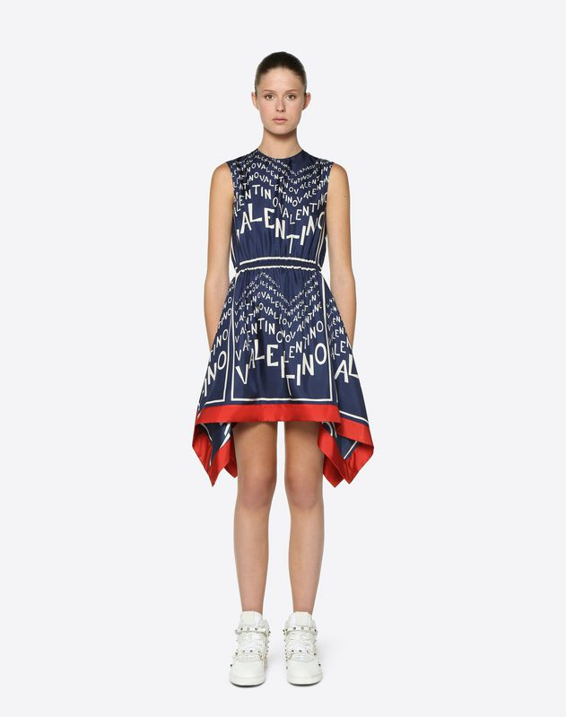 Valentino Chevron Twill Dress