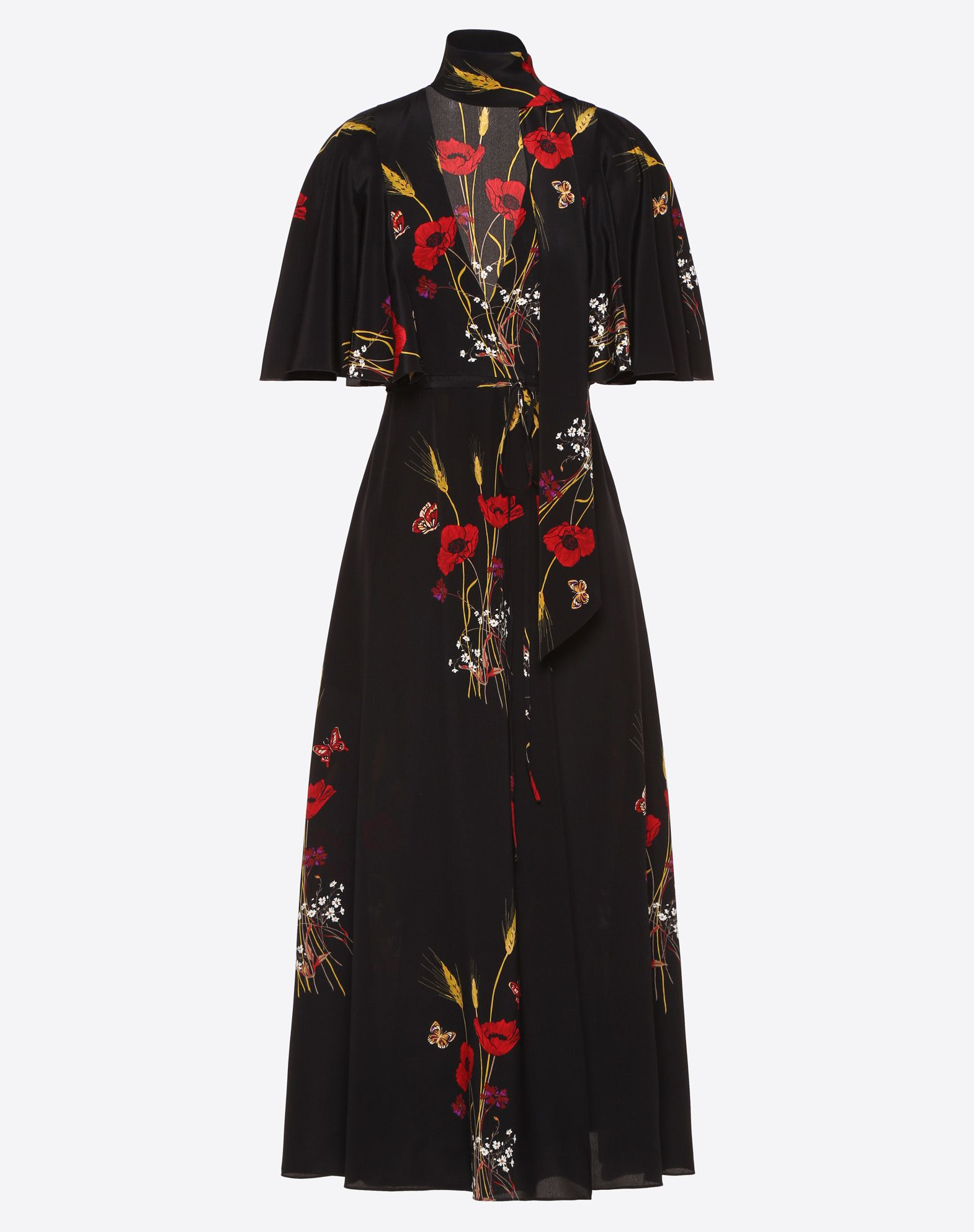 Flowery Meadow Crêpe de Chine Dress
