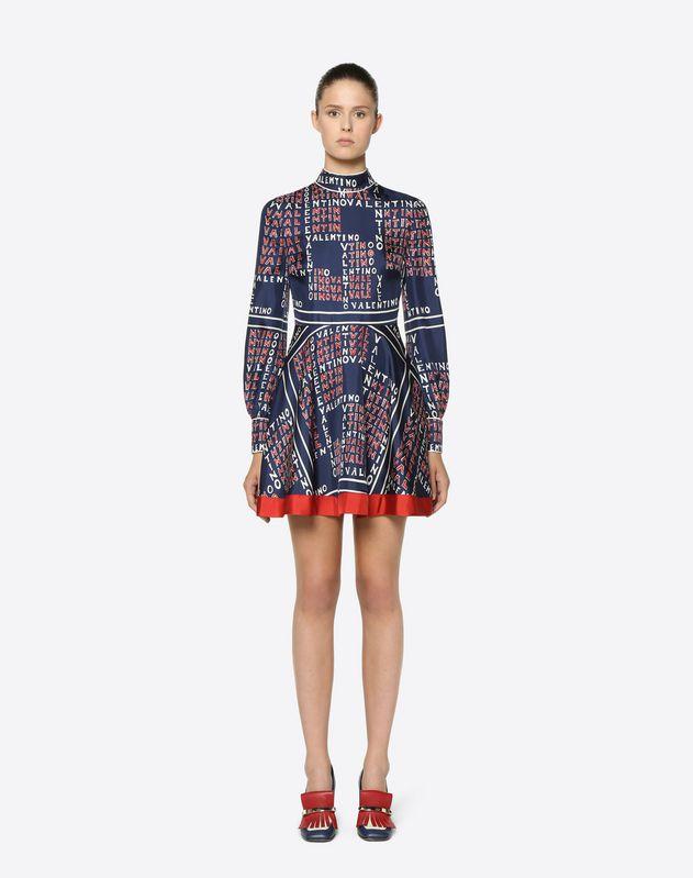 Kleid aus Twill Valentino Puzzle