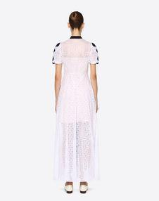 Kleid aus Damier Organdy