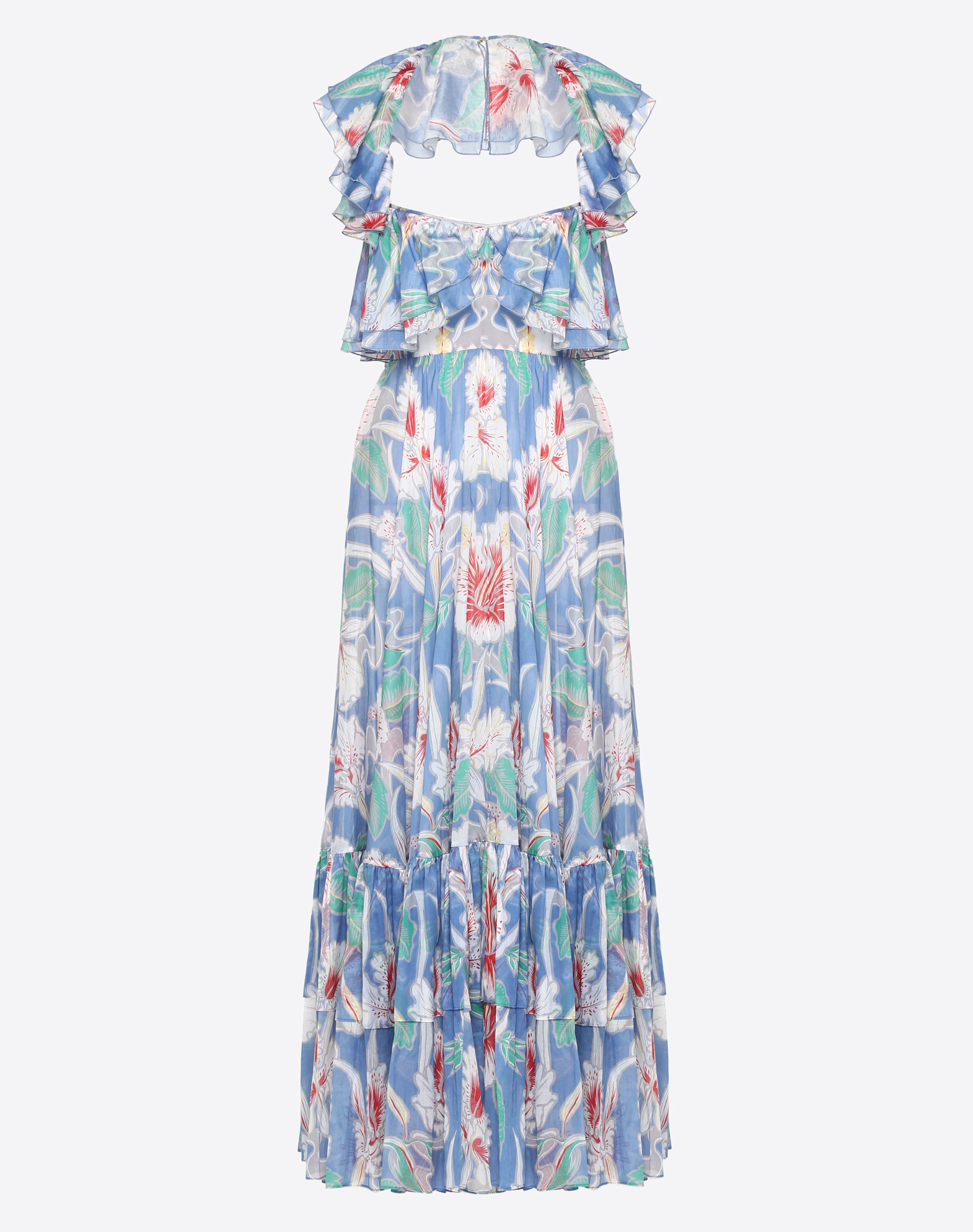 Hawaiian Hibiscus Cotton Voile Dress