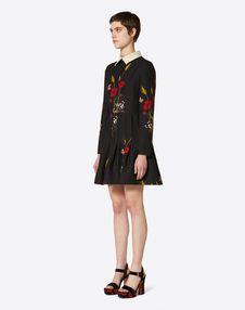 Flowery Meadow Crêpe Couture Dress